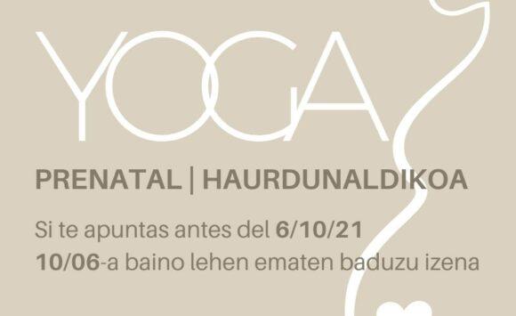 Promoción YOGA PRENATAL EN DHARANANDA – Inscríbete antes del 6 de octubre