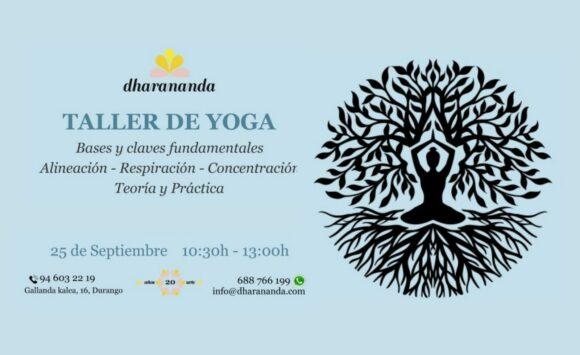 Taller de Yoga – Bases y claves fundamentales 25 de Septiembre